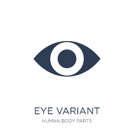 Eye variant with enlarged pupil icon. Trendy flat vector Eye variant with enlarged pupil icon on white background from Human Body Parts collection, vector illustration can be use for web and mobile, eps10