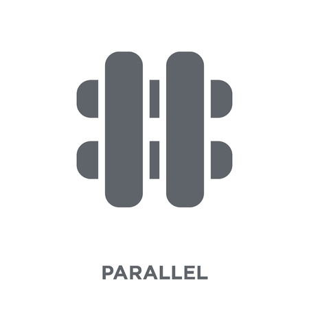 Parallel icon. Parallel design concept from Geometry collection. Simple element vector illustration on white background.