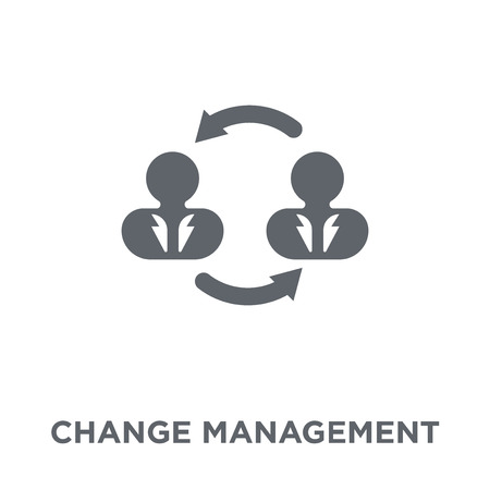 Change management icon. Change management design concept from Time managemnet collection. Simple element vector illustration on white background.