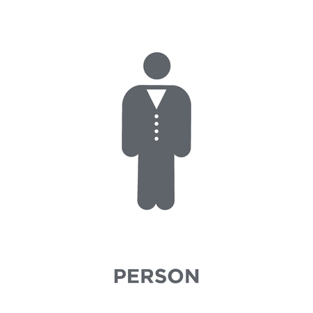 Person icon. Person design concept from Time managemnet collection. Simple element vector illustration on white background.