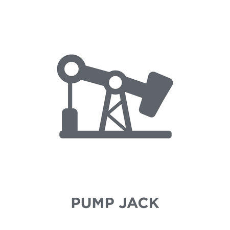 Pump jack icon. Pump jack design concept from  collection. Simple element vector illustration on white background. Illustration