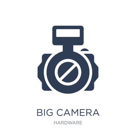 Big Camera icon. Trendy flat vector Big Camera icon on white background from hardware collection, vector illustration can be use for web and mobile, eps10