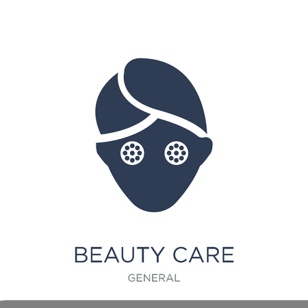beauty care icon. Trendy flat vector beauty care icon on white background from general collection, vector illustration can be use for web and mobile, eps10 Illustration