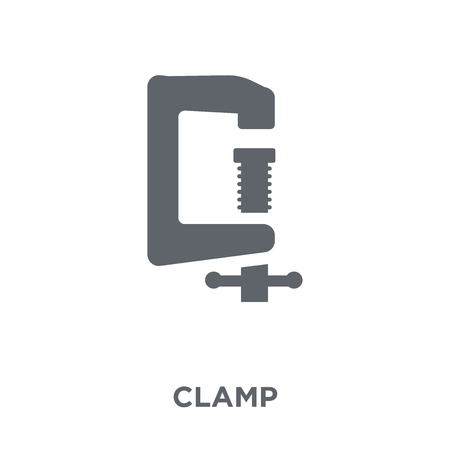 Clamp icon. Clamp design concept from Industry collection. Simple element vector illustration on white background.