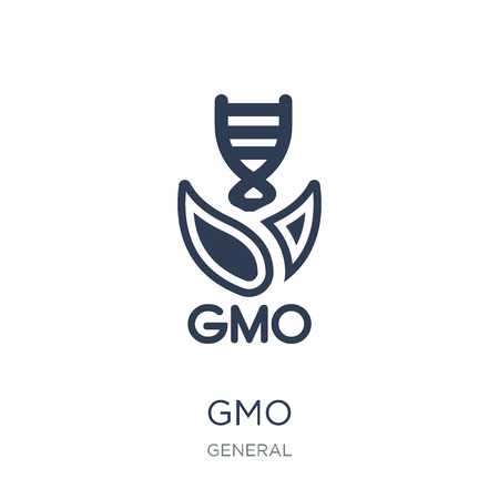 gmo icon. Trendy flat vector gmo icon on white background from general collection, vector illustration can be use for web and mobile, eps10