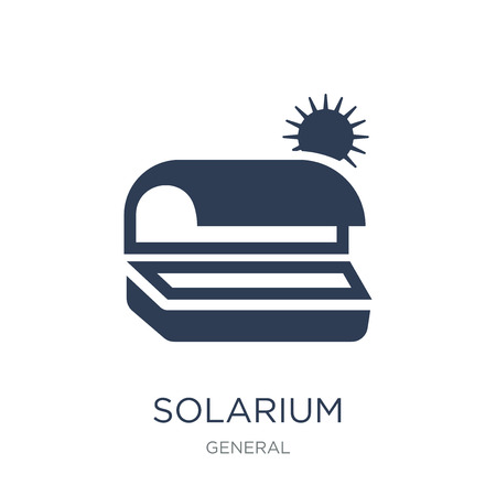 solarium icon. Trendy flat vector solarium icon on white background from General collection, vector illustration can be use for web and mobile, eps10 Ilustração