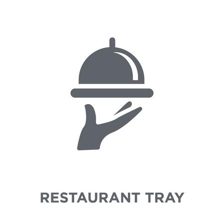 Restaurant-Tablett-Symbol. Designkonzept für Restauranttabletts aus der Restaurantkollektion. Einfache Elementvektorillustration auf weißem Hintergrund. Vektorgrafik