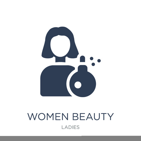 Women Beauty icon. Trendy flat vector Women Beauty icon on white background from Ladies collection, vector illustration can be use for web and mobile, eps10 Illustration