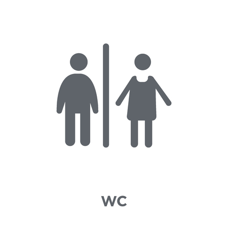 Wc icon. Wc design concept from  collection. Simple element vector illustration on white background. Ilustração