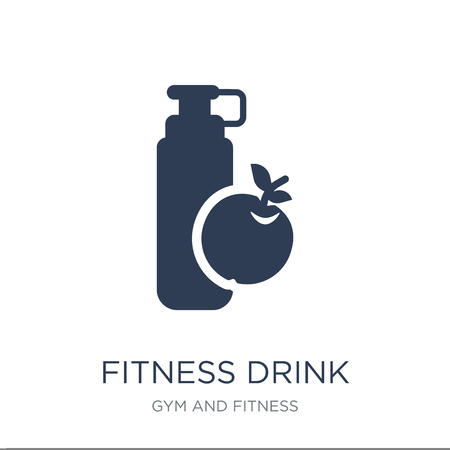 fitness Drink icon. Trendy flat vector fitness Drink icon on white background from Gym and fitness collection, vector illustration can be use for web and mobile, eps10