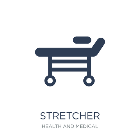 Stretcher icon. Trendy flat vector Stretcher icon on white background from Health and Medical collection, vector illustration can be use for web and mobile, eps10