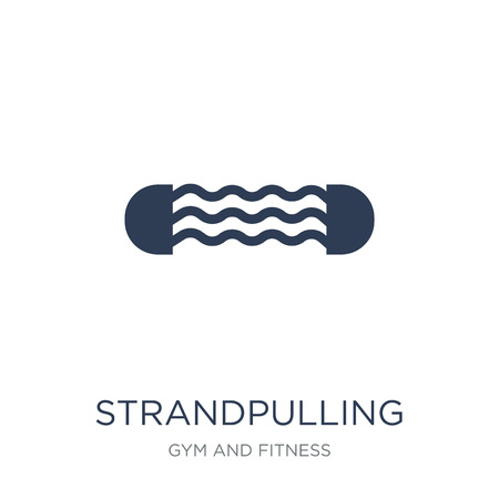 Strandpulling icon. Trendy flat vector Strandpulling icon on white background from Gym and fitness collection, vector illustration can be use for web and mobile, eps10 Ilustração