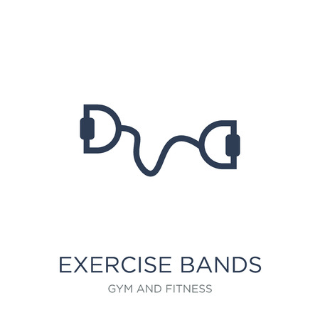 Exercise bands icon. Trendy flat vector Exercise bands icon on white background from Gym and fitness collection, vector illustration can be use for web and mobile, eps10