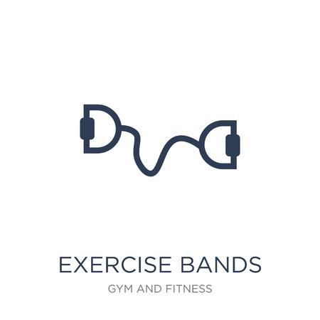 Icono de bandas de ejercicio. Icono de bandas de ejercicio de moda vector plano sobre fondo blanco de colección de gimnasio y fitness, Ilustración de vectores se puede utilizar para web y móvil, eps10
