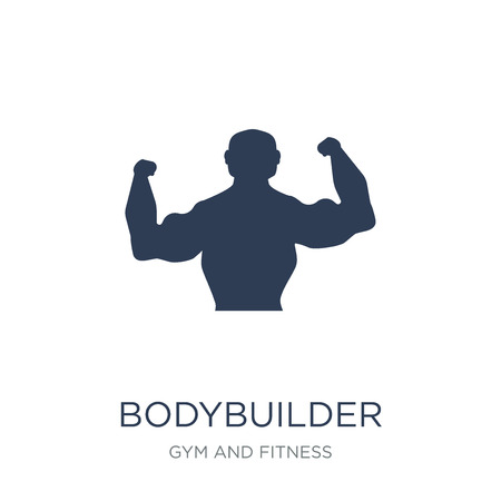 Bodybuilder icon. Trendy flat vector Bodybuilder icon on white background from Gym and fitness collection, vector illustration can be use for web and mobile, eps10