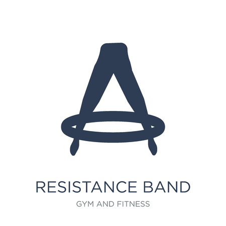 Resistance band icon. Trendy flat vector Resistance band icon on white background from Gym and fitness collection, vector illustration can be use for web and mobile, eps10