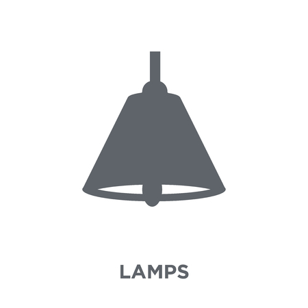 Lamps icon. Lamps design concept from Furniture and household collection. Simple element vector illustration on white background.