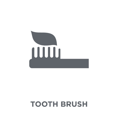 Tooth Brush icon. Tooth Brush design concept from  collection. Simple element vector illustration on white background. Banco de Imagens - 112105823