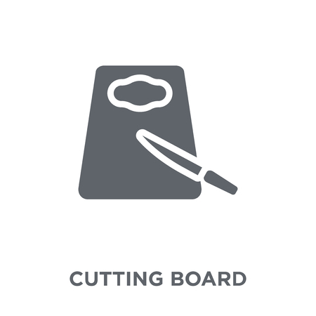 Cutting board icon. Cutting board design concept from Kitchen collection. Simple element vector illustration on white background.