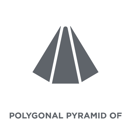 Polygonal pyramid of triangles icon. Polygonal pyramid of triangles design concept from Geometry collection. Simple element vector illustration on white background. Illustration
