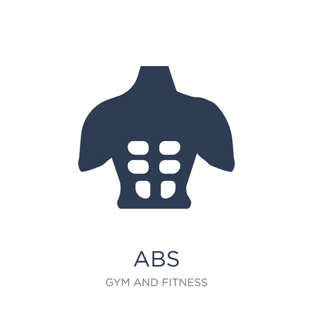 Abs icon. Trendy flat vector Abs icon on white background from Gym and fitness collection, vector illustration can be use for web and mobile, eps10