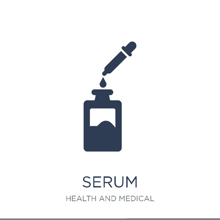 Serum icon. Trendy flat vector Serum icon on white background from Health and Medical collection, vector illustration can be use for web and mobile, eps10
