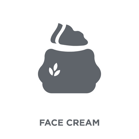face cream icon. face cream design concept from Hygiene collection. Simple element vector illustration on white background.