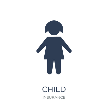 Child icon. Trendy flat vector Child icon on white background from Insurance collection, vector illustration can be use for web and mobile, eps10 Ilustrace