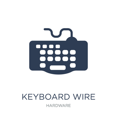 Keyboard Wire icon. Trendy flat vector Keyboard Wire icon on white background from hardware collection, vector illustration can be use for web and mobile, eps10