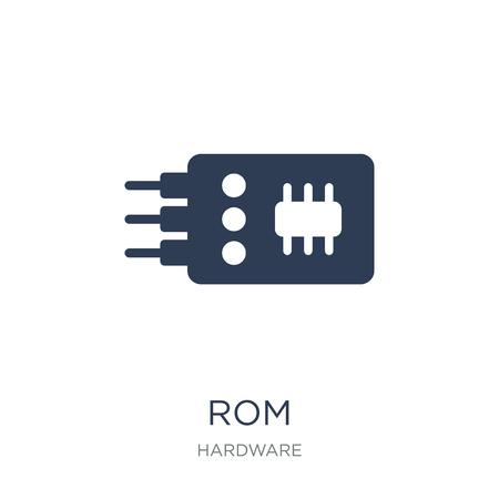 Icono de rom. Icono de Rom de moda vector plano sobre fondo blanco de la colección de hardware, Ilustración de vectores se puede utilizar para web y móvil, eps10