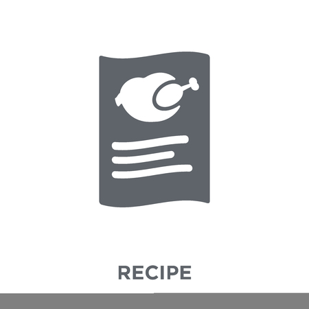 Recipe icon. Recipe design concept from  collection. Simple element vector illustration on white background. Stock Illustratie