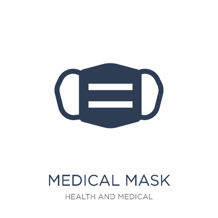 medical Mask icon. Trendy flat vector medical Mask icon on white background from Health and Medical collection, vector illustration can be use for web and mobile, eps10