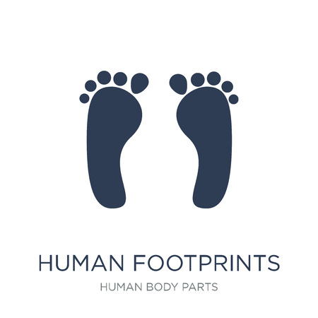 Human footprints icon. Trendy flat vector Human footprints icon on white background from Human Body Parts collection, vector illustration can be use for web and mobile, eps10