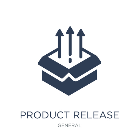 product release icon. Trendy flat vector product release icon on white background from General collection, vector illustration can be use for web and mobile, eps10