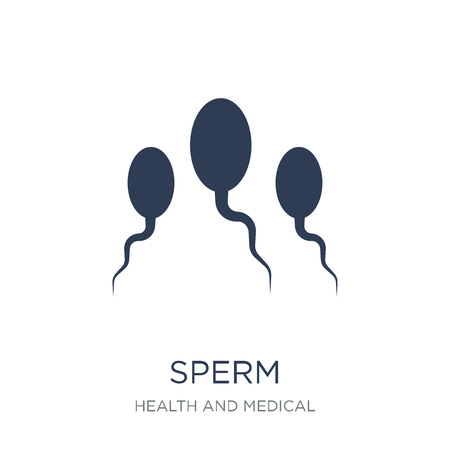 Sperm icon. Trendy flat vector Sperm icon on white background from Health and Medical collection, vector illustration can be use for web and mobile, eps10 Illustration