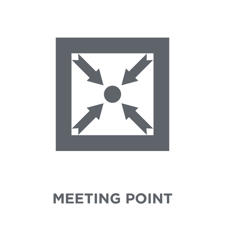 Meeting point icon. Meeting point design concept from Human resources collection. Simple element vector illustration on white background.