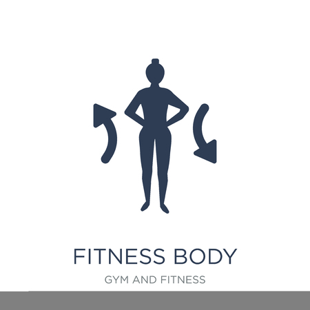 fitness Body icon. Trendy flat vector fitness Body icon on white background from Gym and fitness collection, vector illustration can be use for web and mobile, eps10 Illusztráció