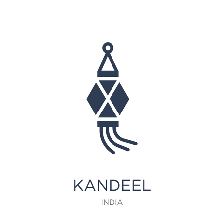 Kandeel icon. Trendy flat vector Kandeel icon on white background from india collection, vector illustration can be use for web and mobile, eps10 Foto de archivo - 112134088