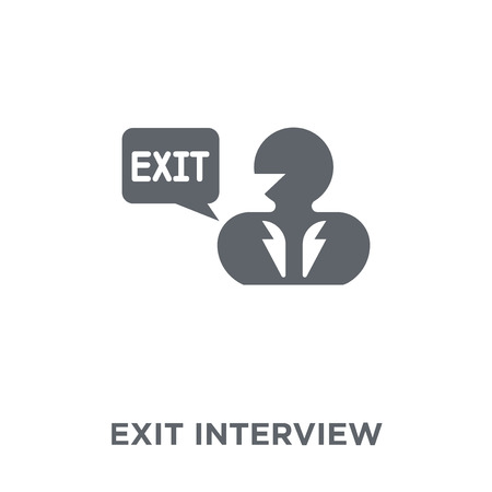 Exit interview icon. Exit interview design concept from Time managemnet collection. Simple element vector illustration on white background.