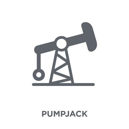 Icône Pumpjack. Concept de design Pumpjack de la collection. Illustration vectorielle élément simple sur fond blanc.