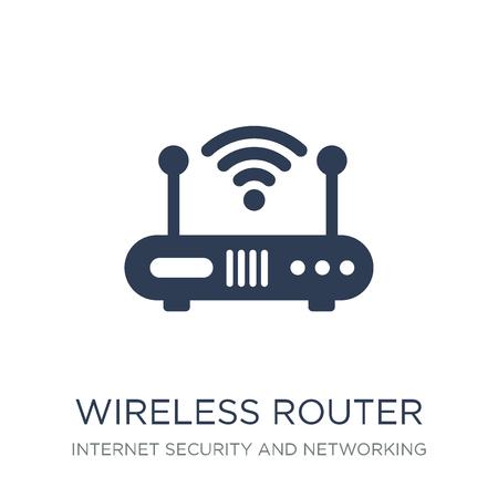 WLAN-Router-Symbol. Trendiges flaches Vektor-Wireless-Router-Symbol auf weißem Hintergrund aus der Internetsicherheits- und Netzwerksammlung, Vektorillustration kann für Web und Mobile verwendet werden, eps10 Vektorgrafik