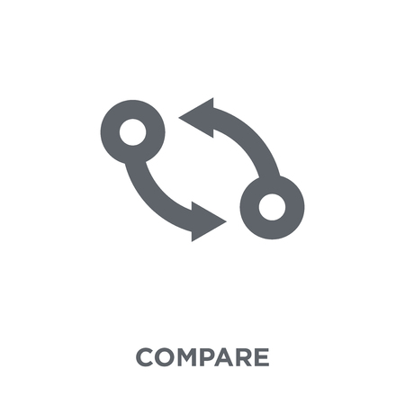 Comparer l'icône. Comparez le concept de design de la collection des ressources humaines. Illustration vectorielle élément simple sur fond blanc.