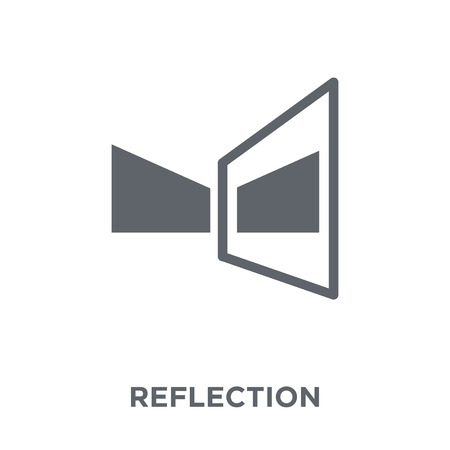 Icona di riflessione. Concetto di design di riflessione da collezione Geometry. Illustrazione vettoriale semplice elemento su sfondo bianco. Vettoriali