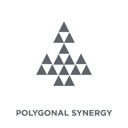 Polygonal synergy shapes icon. Polygonal synergy shapes design concept from Geometry collection. Simple element vector illustration on white background.