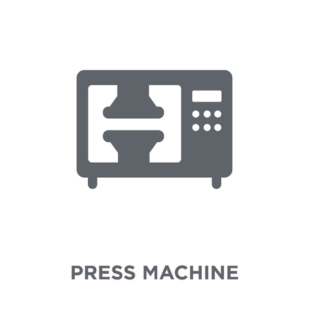 Press machine icon. Press machine design concept from Industry collection. Simple element vector illustration on white background. Ilustração