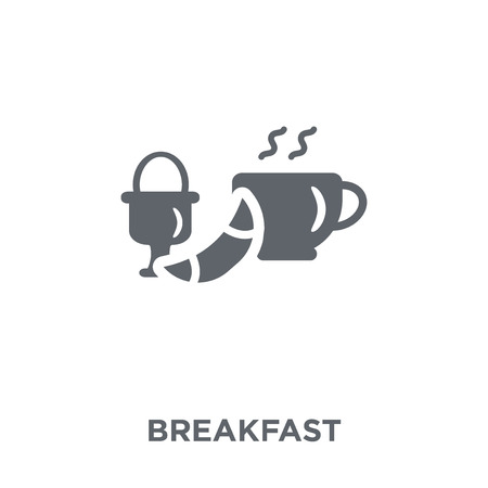 Breakfast icon. Breakfast design concept from Restaurant collection. Simple element vector illustration on white background.