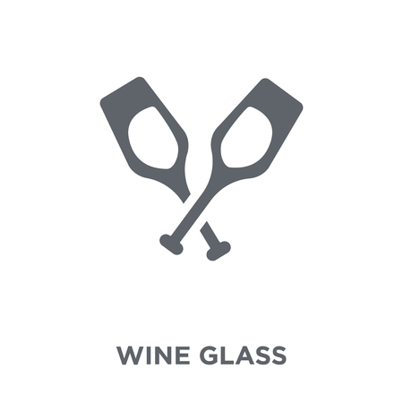 Wine glass icon. Wine glass design concept from Restaurant collection. Simple element vector illustration on white background.