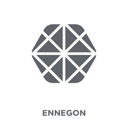 Ennegon icon. Ennegon design concept from Geometry collection. Simple element vector illustration on white background. Stock Illustratie