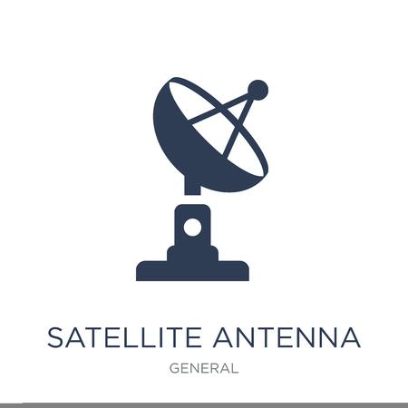 Satellitenantennensymbol. Trendiges flaches Vektor-Satellitenantennensymbol auf weißem Hintergrund aus der allgemeinen Sammlung, Vektorillustration kann für Web und Mobile verwendet werden, eps10