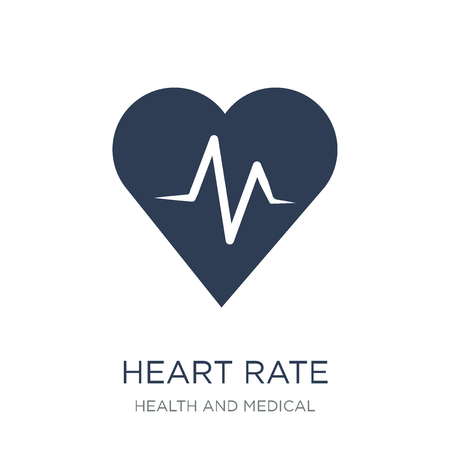 Heart rate icon. Trendy flat vector Heart rate icon on white background from Health and Medical collection, vector illustration can be use for web and mobile, eps10